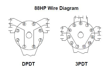88HP_Wiring_Diagram item 88ahpx 24 115vac, 88hp series hermetically sealed plug in 11 pin relay wiring schematic at mifinder.co