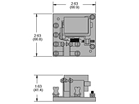 112 Series - Low Coil Power Sensitive Relays - Industrial Pin Out - Dimensional Picture