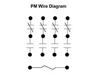 PM Series - Open Style Motor Relays - Wiring Diagram