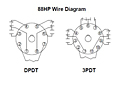 88HP Series - Hermetically Sealed Plug-in Special Purpose Relays - Wiring Diagram