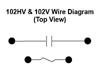 102HV & 102V Series - High Voltage Switching Special Purpose Relays - Wiring Diagram