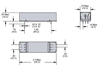 102 Series - Metal Shielded Reed Relays - Dimensional Picture