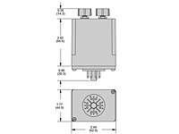 236 Series - Adjustable Voltage Sensors - Dimensional Picture