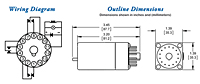 250 Series - GE Replacement Special Purpose Relays - Dimensions & Wiring Diagram
