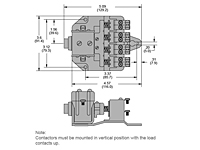 48 Series - Contactor Relays - Dimensional Picture