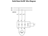 645S Series - Solid State On / Off Relays - Wiring Diagram